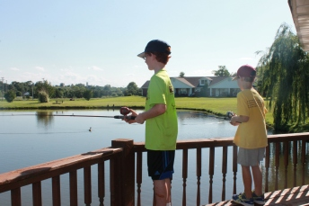 "Fishing at Grandma's--one of the ""best of"" memories we will take northward with us."