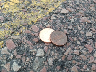 I always try to see the pennies, because they are the easiest to ignore.
